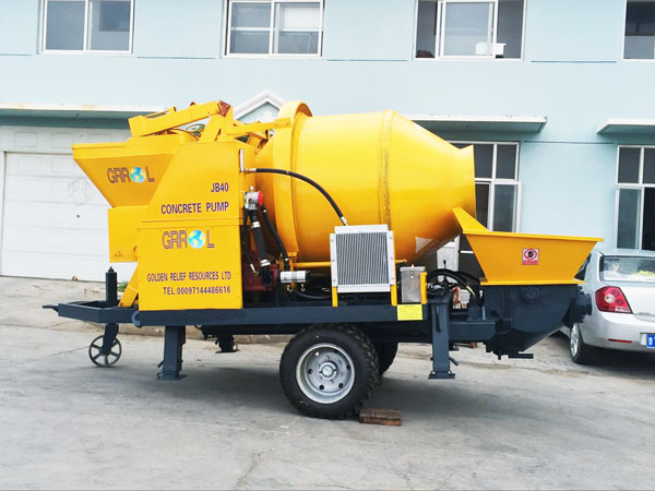 mini concrete mixer with pump sale
