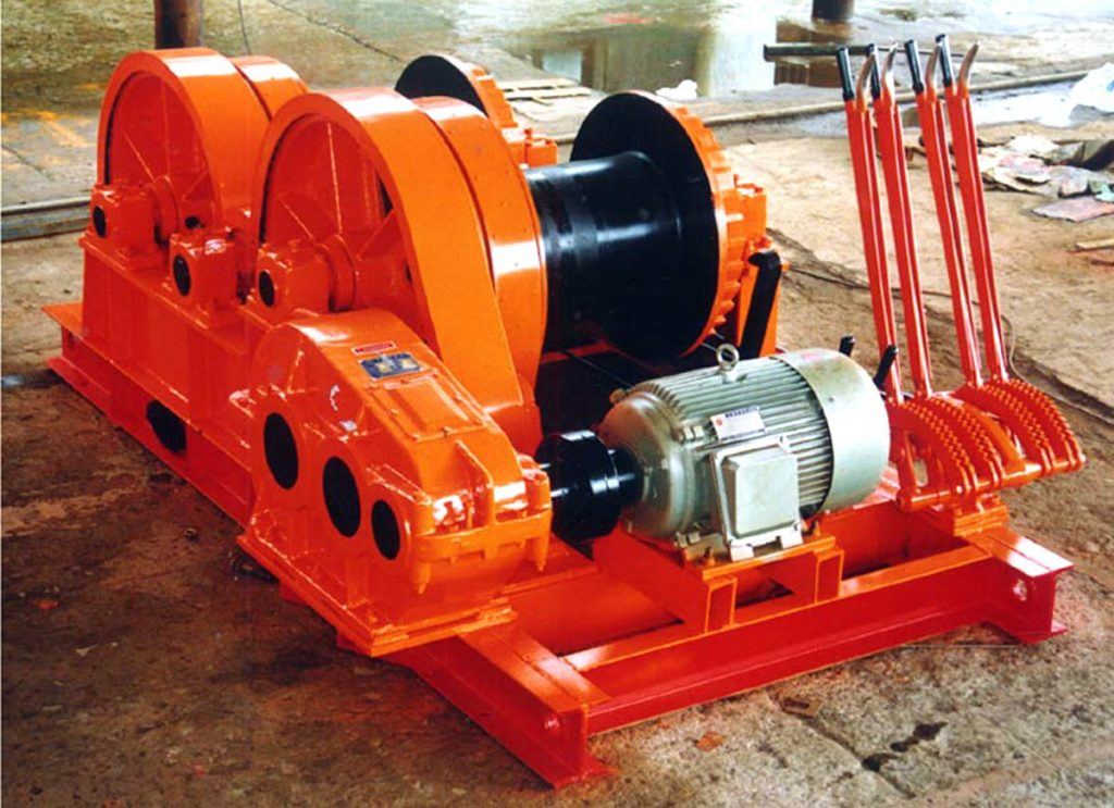 JKL Piling Winch With 4 Handles