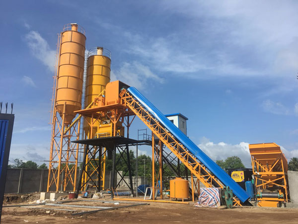 wet mix concrete batch plant